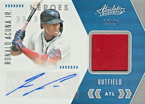 2020 Panini Absolute Baseball Absolute Heroes Material Signatures Ronald Acuna Jr.