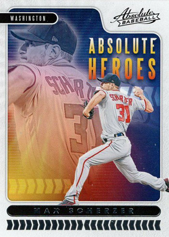2020 Panini Absolute Baseball Absolute Heroes Max Scherzer