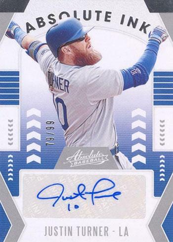 2020 Panini Absolute Baseball Absolute Ink Justin Turner