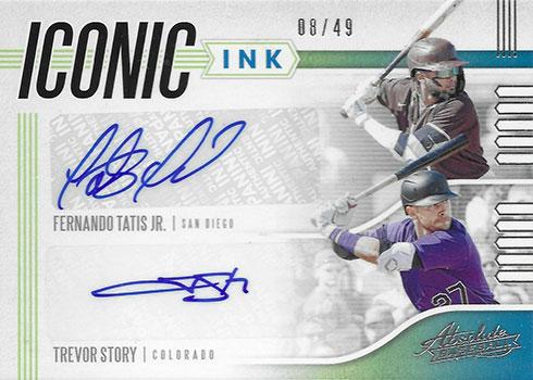 2020 Panini Absolute Baseball Iconic Ink Dual Fernando Tatis Jr Trevor Story