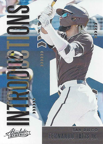 2020 Panini Absolute Baseball Introductions Fernando Tatis Jr.
