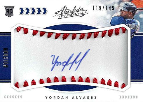 2020 Panini Absolute Baseball Rookie Material Signature Yordan Alvarez RC