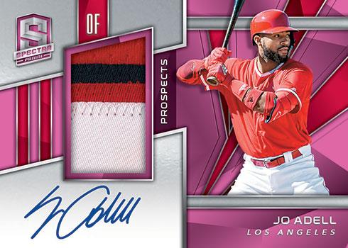 2020 Panini Chronicles Baseball Spectra Prospect Jersey Autograph Pink