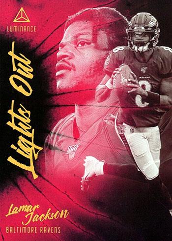 2020 Panini Luminance Football Lights Out Lamar Jackson