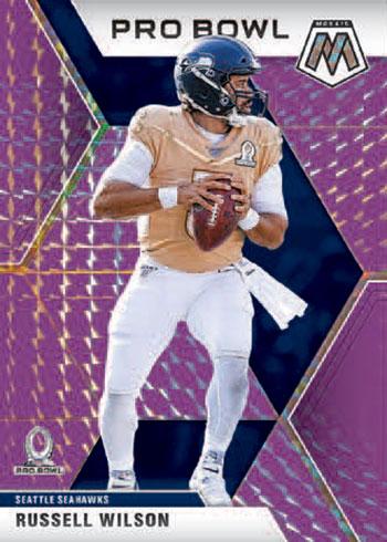 2020 Panini Mosaic Football Russell Wilson Pro Bowl Purple Mosaic