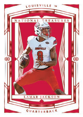 2020 Panini National Treasures Collegiate Football Base Red