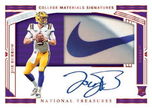 2020 Panini National Treasures Collegiate Football Collegiate Material Signatures Brand Logo