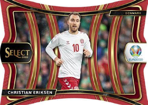 2020 Select UEFA Euro Soccer Mezzanine Red Die-Cut
