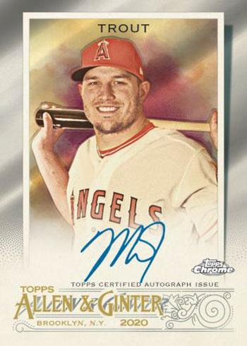2020 Topps Allen & Ginter Chrome Baseball Autograph