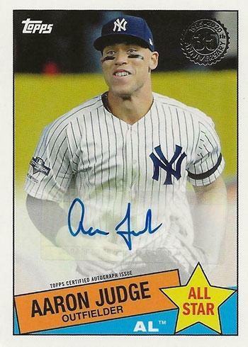 2020 Topps Series 2 Baseball 1985 Topps Autographs All-Star Aaron Judge