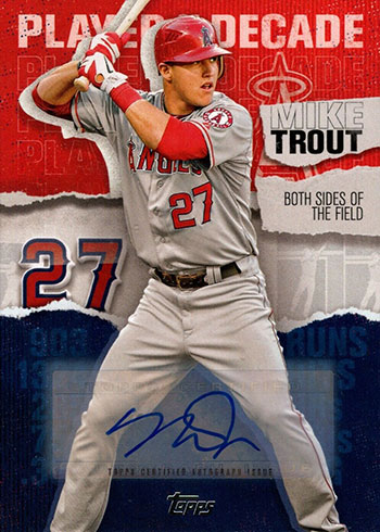 2020 Topps Series 2 Baseball Topps Player of the Decade Mike Trout Autograph