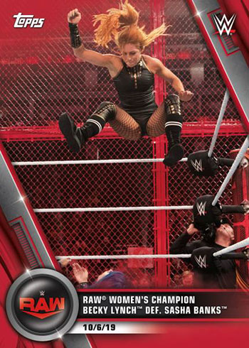 2020 Topps WWE Women's Division Red