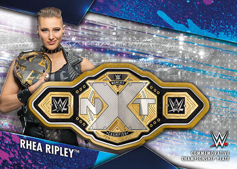 2020 Topps WWE Women's Division Championship Plate Patch