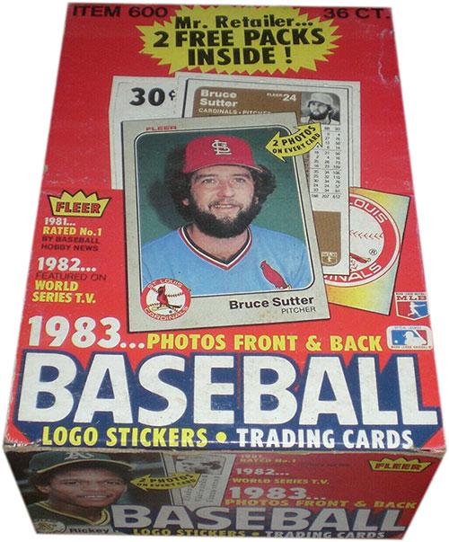 1983 Fleer Baseball Box