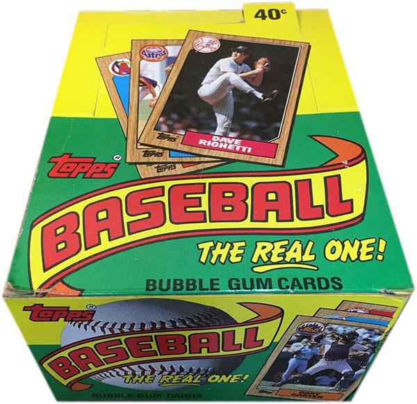 1987 Topps Baseball Box