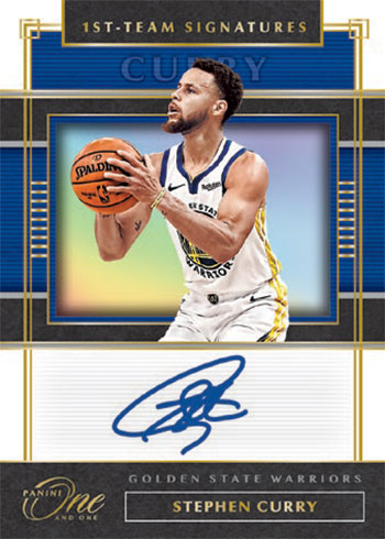 2019-20 Panini One and One Basketball First Team Signatures