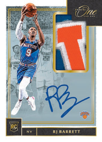 2019-20 Panini One and One Basketball Rookie Jersey Autographs Gold