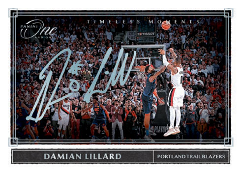 2019-20 Panini One and One Basketball Timeless Moments Autographs