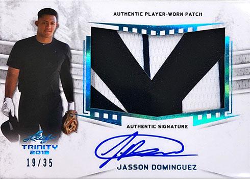 2019 Leaf Trinity Patch Autographs Platinum Jasson Dominguez
