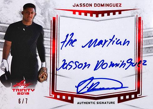 2019 Leaf Trinity Baseball Signatures Jasson Dominguez