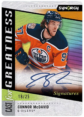 2020-21 Upper Deck Synergy Hockey Cast for Greatness Signatures
