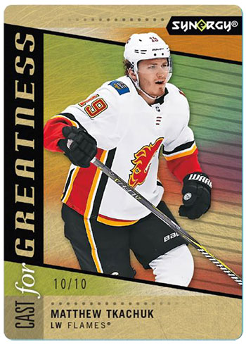 2020-21 Upper Deck Synergy Hockey Cast for Greatness Gold