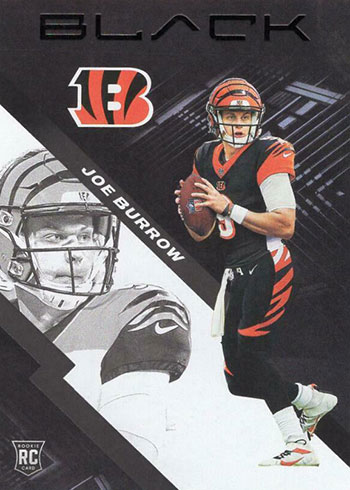 2020 Panini Black Football Joe Burrow Rookie Card
