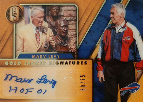 2020 Panini Gold Standard Football Gold Jacket Signatures Marv Levy