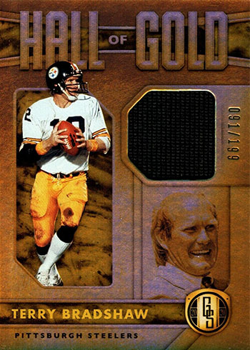 2020 Panini Gold Standard Football Hall of Gold Terry Bradshaw