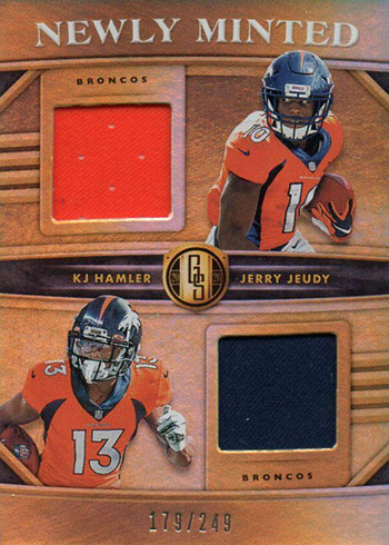 2020 Panini Gold Standard Football Newly Minted Duals