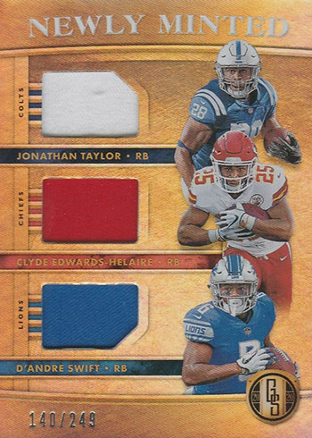 2020 Panini Gold Standard Football Newly Minted Triples