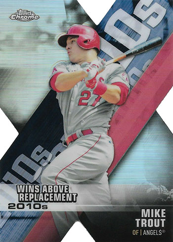 2020 Topps Chrome Baseball Decade of Dominance Mike Trout