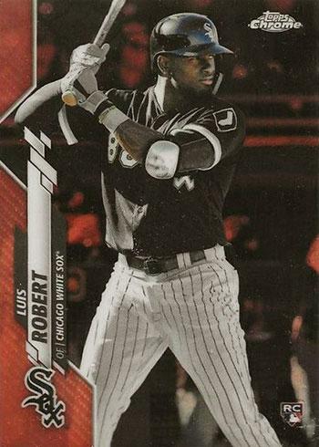 2020 Topps Chrome Baseball Refractors Orange Luis Robert