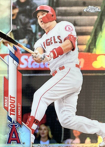 2020 Topps Chrome Baseball Refractors Mike Trout