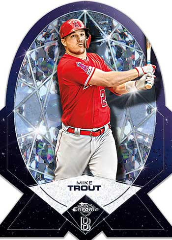 2020 Topps Chrome Ben Baller Edition Ben's Diamond Die Cuts Mike Trout