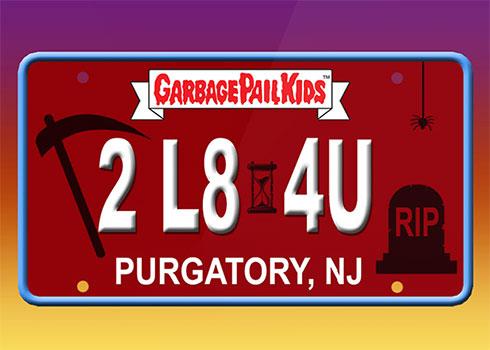 2020 Topps Garbage Pail Krashers License Plate Back