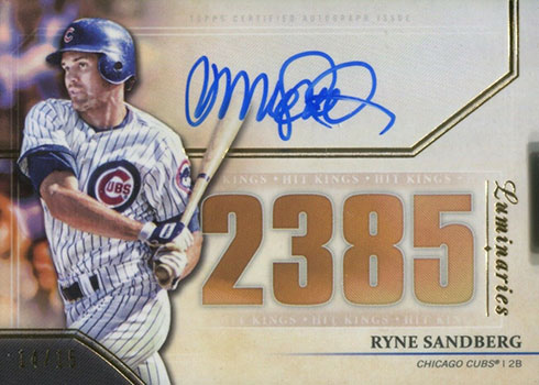 2020 Topps Luminaries Baseball Hit Kings Autographs Ryne Sandberg