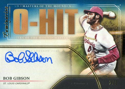 2020 Topps Luminaries Baseball Masters of the Mound Blue Bob Gibson Autograph
