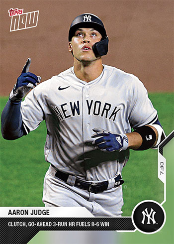 2020 Topps Now Baseball 37 Aaron Judge
