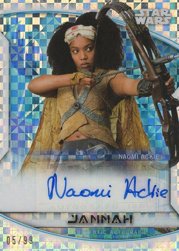 2020 Topps Chrome Perspectives Naomi Ackie Autograph X-fractor