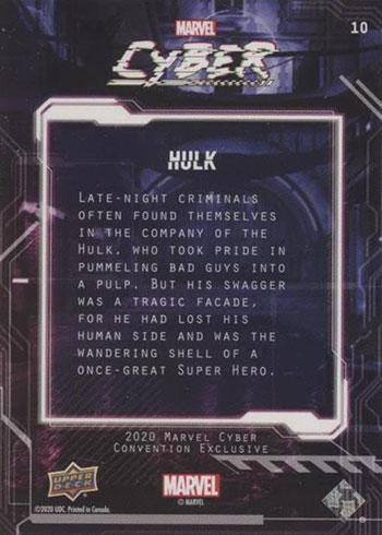 2020 Upper Deck Marvel Cyber Hulk Reverse