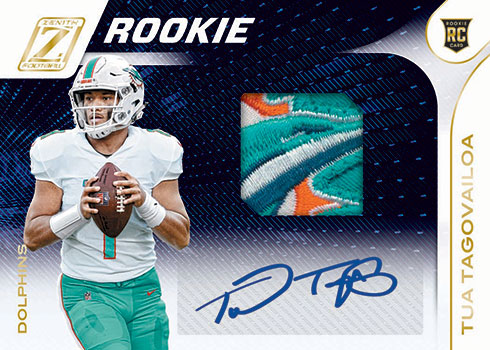 2020 Zenith Football Rookie Patch Autograph