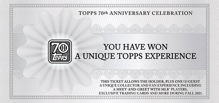 2021 Topps Series 1 Baseball Experience Ticket