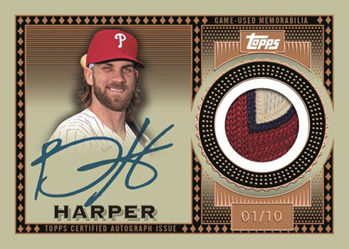 2021 Topps Series 1 Baseball Topps Reverence Autograph Patch Bryce Harper
