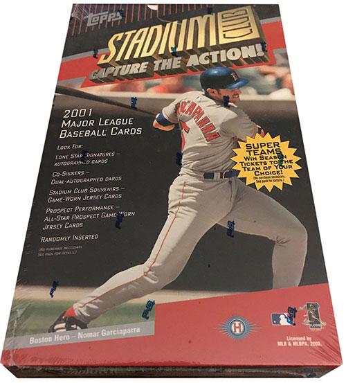 2001 Topps Stadium Club Baseball Box