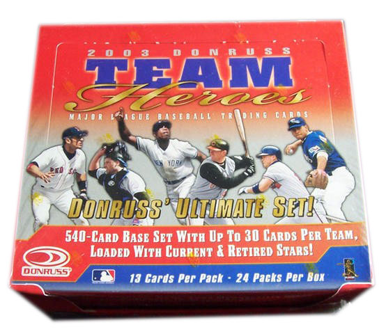 2003 Donruss Team Heroes Baseball Box