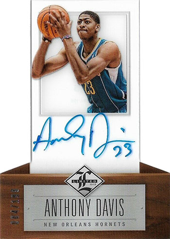 2012-13 Limited Anthony Davis RC Autograph