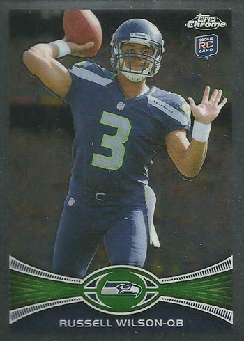 2012 Topps Chrome Russell Wilson Rookie Card