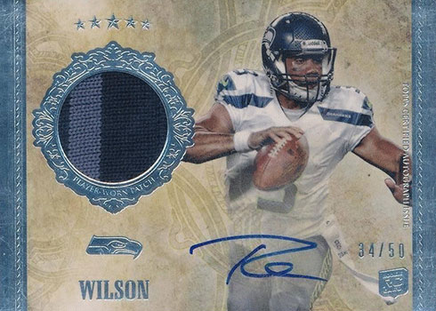 2012 Topps Five Star Russell Wilson Rookie Card
