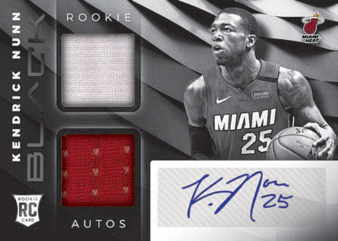 2019-20 Panini Black Basketball Rookie Variation Memorabilia Autographs